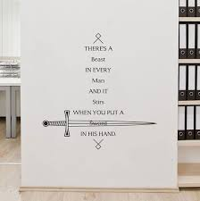 Game Of Thrones Quote Wall Art Decal Sticker Removable Vinyl Home Decor Game Of Thrones Quotes Game Of Thrones Cards Game Of Thrones