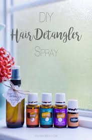 diy hair detangler curling spray with
