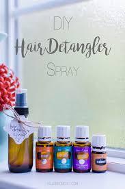 diy hair detangler curling spray with