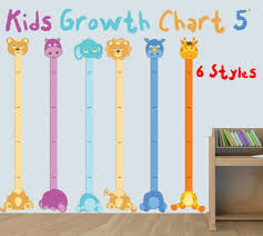 Kids Growth Chart Decal Giant Ruler Nursery Wall Decals Wall Growth Sticker Height Ruler Measuring Stick Wall Height Chart By Expressed In Prints Catch My Party