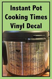 Instant Pot Cooking Times Vinyl Decal Instantpot Decal Cookingtime Ad Kitchen Cooking Etsy Vinyl Chart Instant Pot Instant Pot Recipes Cooking Time
