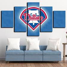 Philadelphia Phillies 5 Piece Modern Canvas Wall Art Prints Decor Set Gl Canvas Print Art