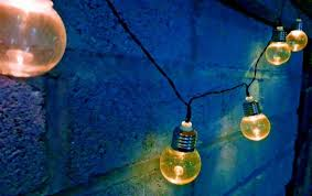 solar powered retro bulb string lights