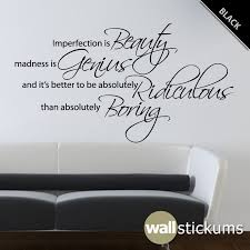 Marilyn Monroe Wall Decal Quote Vinyl Imperfection Is Beauty 2 Etsy Wall Quotes Bedroom Wall Quotes Decals Wall Decals Living Room