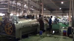 Quy trình sấy khô quần áo vải công nghiệp, máy sấy công nghiệp - YouTube