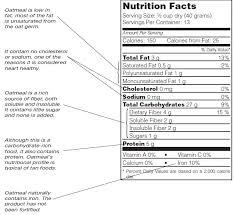 rolled oats nutrition facts