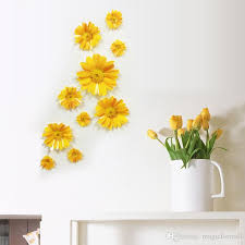 3d stereo daisy flowers wall decor
