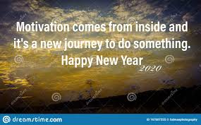 motivational quote about happy new year stock image image