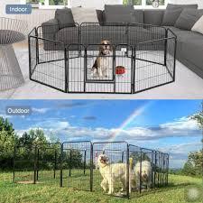 Bestpet Pet Playpen 8 Panel Indoor Outdoor Folding Metal Protable Puppy Exercise Pen Dog Fence243240 32 Black Click Imag Pet Playpens Dog Playpen Dog Fence