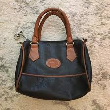 black brown leather mini satchel purse