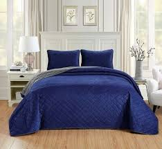 3pc oversize cal king navy blue dark