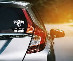 Teachers Can Change The World Vinyl Decal Gifts For Teachers Etsy In 2020 Car Window Stickers Vinyl Decals Car Decals Vinyl