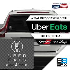 4 Wide Uber Eats Delivery Vinyl Die Cut Decal Food Etsy