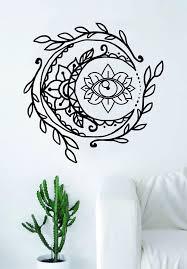 Moon Eye Wall Decal Sticker Room Art Vinyl Yoga Namaste Lotus Flower M Boop Decals