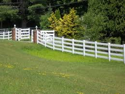 Post And Rail Vinyl Fence With 4 Rails Ketcham Fenceketcham Fence