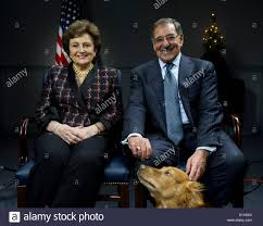 US Secretary of Defense Leon Panetta and his wife Sylvia tape a ...