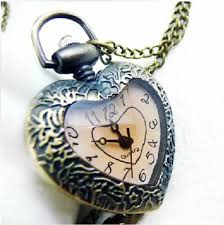vintage love heart pocket watch pendant