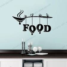 Self Adhesive Wall Vinyl Decal Kitchen Decor Wall Sticker Food Word Lettering Sign Spoon Restaurant Stylish Mural Design Rb349 Wall Stickers Aliexpress