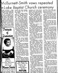 Ralph Lyndon McBurnett marriage to Tonia Smith - Newspapers.com