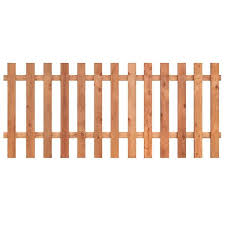 Outdoor Essentials 3 1 2 Ft X 8 Ft Western Red Cedar Spaced Picket Flat Top Fence Panel Kit 241286 The Home Depot