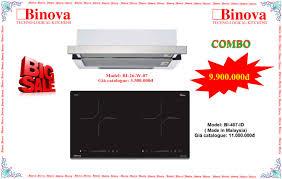 Combo bếp từ Binova BI-407-ID và máy hút mùi Binova BI-26-W-07