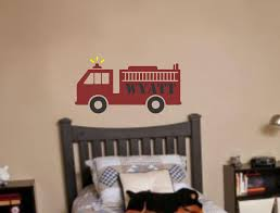 Fire Truck Boy Wall Decal Name Nursery Vinyl Wall Sticker 19 00 Via Etsy Boys Wall Decals Nursery Wall Decals Nursery Vinyl