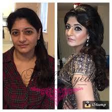 farah s reception hair and makeup