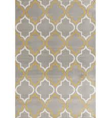 freeman geometric gray yellow area rug