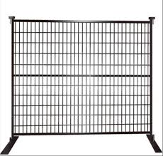 China Canada Black Coated Security Temporary Fence Temporary Fence Panel Security Fence China Temporary Fence Temporary Fence Panel