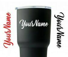 Tumbler Decal Yeti Decal Initial Sticker Cup Name Decals Monogram Decal For Sale Online Ebay