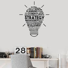 Strategy Words Vinyl Wall Decal Cloud Lightbulb Quote Hot Office Wall Decor Idea Art Stickers Mural Interior Wallpapers Wall Stickers Home Decor Wall Stickers Kids From Joystickers 14 38 Dhgate Com