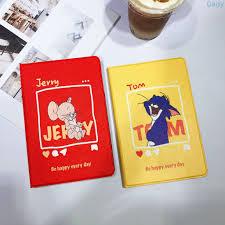 Bao Da Hình Mèo Và Chuột Mickey Cho Ipad5/6 Apple Air1/2 10.2 Mini 1/2