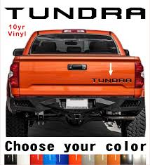 Toyota Tundra Tailgate Vinyl Decal Letters Insert 2014 2018 10yr Warranty 2019 Mycarboard Com