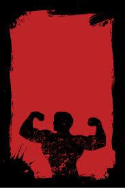 ملصق جيم لياقة مفتول العضلات تمرين نادي لياقة بدنية ملصق المواد