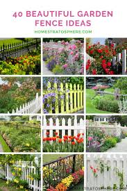 40 Beautiful Garden Fence Ideas Small Garden Fence Cheap Garden Fencing Diy Garden Fence