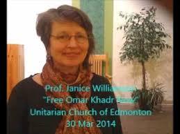 "Prof. Janice Williamson, ""Free Omar Khadr Now"", 30 Mar 2014   Omar,  Williamson, American soldiers"