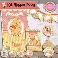 Winnie The Pooh Dia De Nombres De Cumpleanos Bautizo Baby Shower
