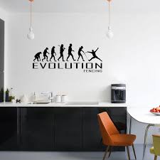 Evolution Of Fencing Wall Sticker Vinyl Decal Decors Art Fence Sport Sporting The Clothing Shed