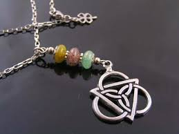 tourmaline necklace celtic jewelry with