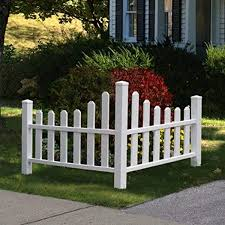 Amazon Com New England Arbors Country Corner Picket Outdoor Decorative Fences Garden Outdoor