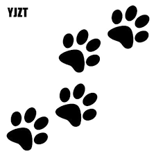 12 8cm 12 5cm Animal Cat Paw Print Funny Vinyl Decal Motorcycle Car Sticker Black Silver S6 3810 Shop The Nation