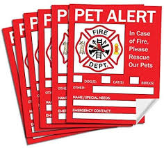 Amazon Com Pet Alert Safety Fire Rescue Sticker Save Our Pets Emergency Pet Inside Decal In Case Of Emergency Danger Pet In House Home Window Door Sign Pet Supplies