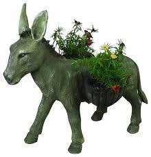 donkey planter farmhouse outdoor