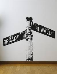 Wall Street Sign Wall Decal Os Aa561 Stickerbrand