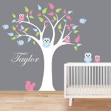 Tree And Owls Wall Decal By Artollo