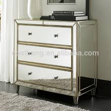 antique mirrored nightstand side table