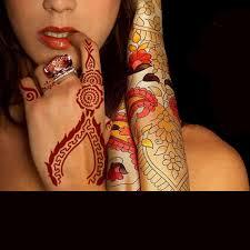 Henna Wzornik Arabski Indyjski Styl Tymczasowy Reka Tatuaz