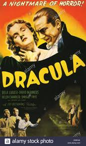 DRACULA Poster for 1931 Universal film with Bela Lugosi and Helen ...