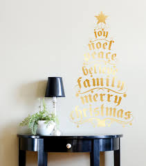 Dcwv Home Christmas Wall Decal Gold Foil Christmas Tree Products Christmas Tree Wall Decals Christmas