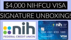 nihfcu visa signature unboxing 4 000
